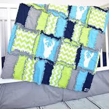 woodland crib bedding lime navy turquoise gray u2013 a vision