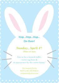 simple and cute easter bunny invitation e card design idea for