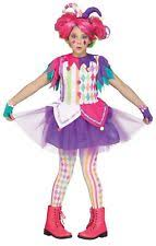 Halloween Costumes Jester Colorful Harlequin Clown Court Jester Girls Halloween Costume