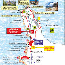 Ithaca Greece Map by Oskars Accommodation U2013 Maps Of Kefalonia Kefalonia Information