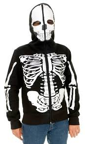 Skeleton Halloween Costume Kids Boys Skeleton Sweatshirt Hoodie Mr Costumes