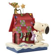 snoopy doghouse christmas decoration peanuts snoopy decorating with woodstock jspea home