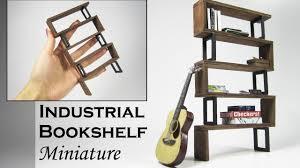 Modern Bookshelf by Miniature Industrial Modern Bookshelf Youtube