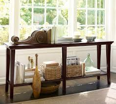 sofa console table long metropolitan long console table pottery barn