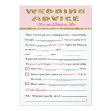 Words Of Wisdom Bridal Shower Game Wedding Advice Cards U0026 Invitations Zazzle Co Uk