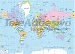Large World Map Poster by World Political Map 1 U003cbr U003e