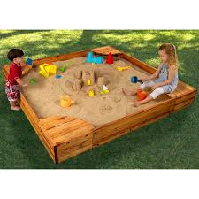 Sears Backyard Playsets Shop Kidkraft 60 In X 60 In Brown Square Wood Sandbox At Lowes Com