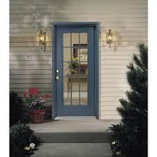 15 Lite Exterior Door Painted Black Reliabilt 32 In X 80 In Lite Prehung Inswing