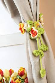 crochet home decor free patterns 20 free patterns for crochet curtain tie backs
