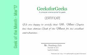 of the month of the month geeksforgeeks