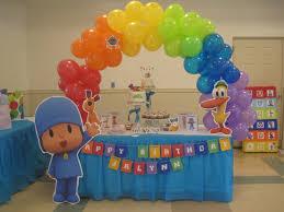 pocoyo party supplies pocoyo painting party using primary colors pocoyo cake table