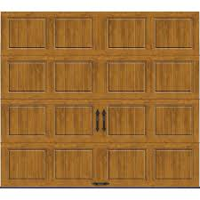 clopay wood garage doors clopay gallery collection 16 ft x 7 ft 6 5 r value insulated
