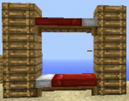 Wood To Make Bunk Beds by How To Make A Bunk Bed Easy Build Minecraft Blog