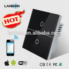 wifi controlled light switch lanbon smart home popular smart wall light switch wifi control by