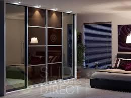 bedroom sliding doors interior awesome 4 panels glass sliding wardrobe doors for modern
