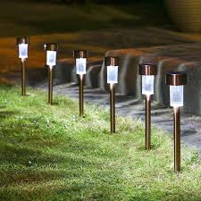 lawn stakes for lights delighted solar outdoor landscape lighting diy lights best yard