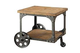 wood metal end table wood and iron end table epicsafuelservices com