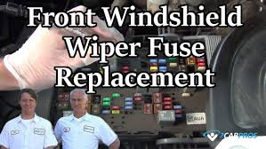nissan almera wiper motor front windshield wiper fuse replacement youtube
