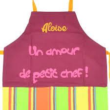 tablier cuisine enfant personnalisé tablier de cuisine enfant personnalisé un amour de petit chef