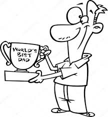 vector of a cartoon soccer holding a trophy outlined