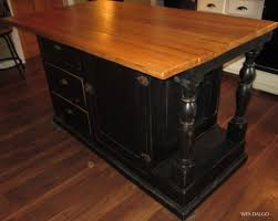 Antique Butcher Block Kitchen Island Kitchen Old Fashioned Wood Weathered Brown Mix Black Kitchen