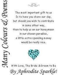 wedding donation registry a donation to our honeymoon wedding poem honey moon and wedding