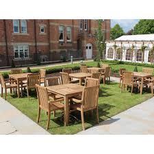 fsc 4 seat teak square windsor commercial dining set outdoor