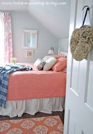 coral bedding in my farmhouse bedroom town u0026 country living