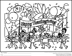 thanksgiving parade coloring pages ginormasource kids