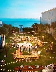 How To Decorate A Backyard Wedding Best 25 Backyard Wedding Lighting Ideas On Pinterest Outdoor