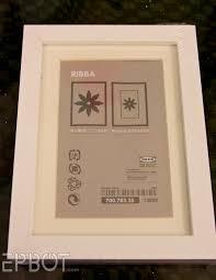 Ikea Ribba Epbot Turn Any Fat Frame Into A Shadowbox Frame
