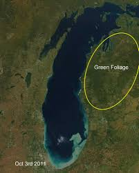 Michigan where to travel in march images Michigan from space see fall colors march down the mitten jpg