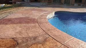 stamped concrete pool decks advanced concrete creations