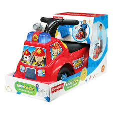amazon com fisher price little people fire truck ride on toys