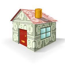 Finanzierung Haus Finanzierung Set 1 Haus Des Geldes Vektor Abbildung