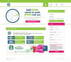 ZapFi Website and web app design