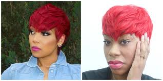 monica inspired red quick weave hair tutorial chimerenicole youtube