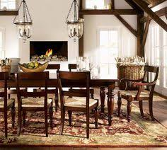 Pottery Barn Dining Room Lighting by Love These Chairs In This Leather Cognac Color Barrington Chairs