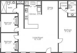 plain 3 bedroom 2 bath house plans for intended design