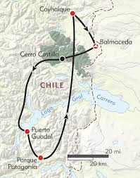 Patagonia South America Map Patagonia U0027s Wild North Itinerary U0026 Map Wilderness Travel