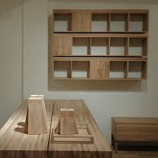wall mounted shelf contemporary wooden with storage
