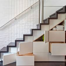 under stairs shelving under stair storage for more space new home design
