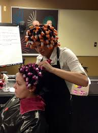sissified permed hair a tour de rôle curlers rollers rods 1 pinterest perms