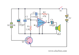 water sensor alarm using lm380 u2013 electronic projects circuits