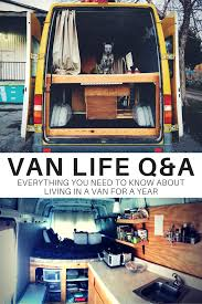 advice on living in a van for a year got a vanlife question
