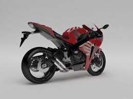 honda rr motorcycle honda cbr 1000 rr 08 custom 3d model cgtrader