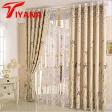 Buy Rustic Home Decor Aliexpress Com Buy Rustic Clover Dandelion Design Curtains For
