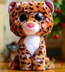 2017 beanie boos american ty big eyes doll brown leopard 15cm ty