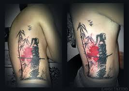 samurai bamboo silhouette by camsy tattoos