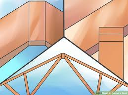 a frame roof design how to frame a roof with pictures wikihow